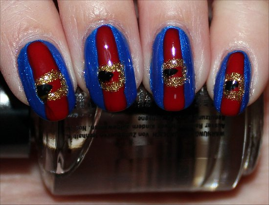 Willy Wonka & the Chocolate Factory Violet Beauregarde Nail Art