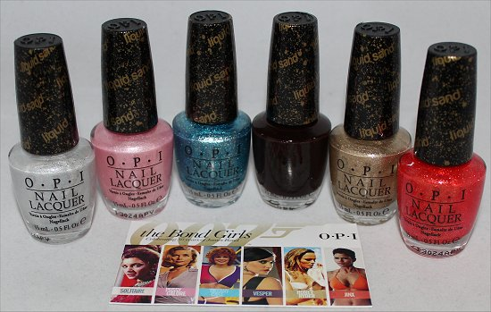 Bond Girls OPI Collection Swatches & Photos