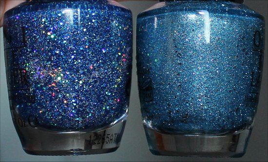 OPI Get Your Number & OPI Tiffany Case Comparison Swatches Flash