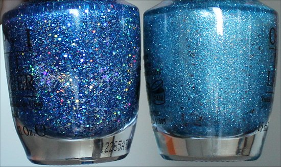 OPI Get Your Number & OPI Tiffany Case Comparison Swatches