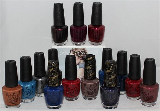 OPI San Francisco Collection Swatches, Press Release & Pictures