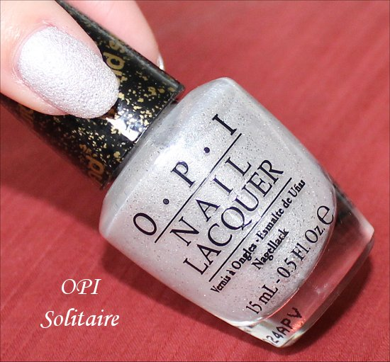 OPI Solitaire White Liquid Sand Bond Girls Collection
