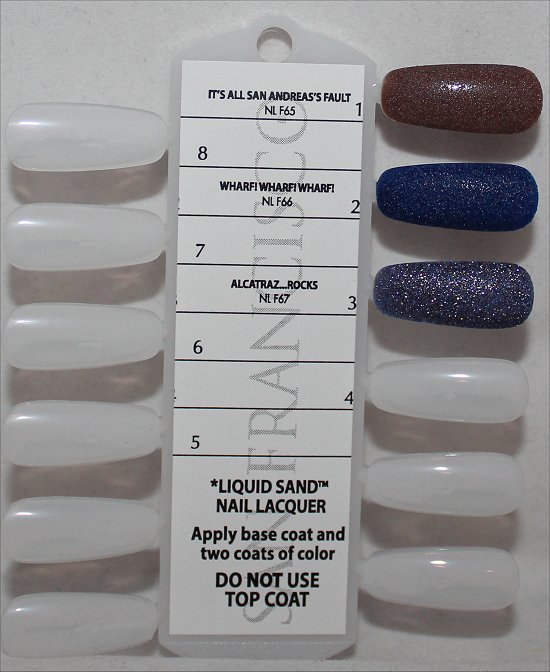 San Francisco OPI Collection Swatches