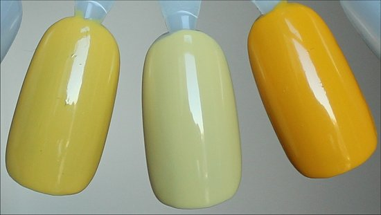 Yellow Nail Polish Comparison Orly Spark, NCLA Tennis Anyone & Nicole by OPI Hit the Lights