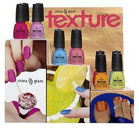 China Glaze Texture Collection Press Release &amp; Promo Pictures