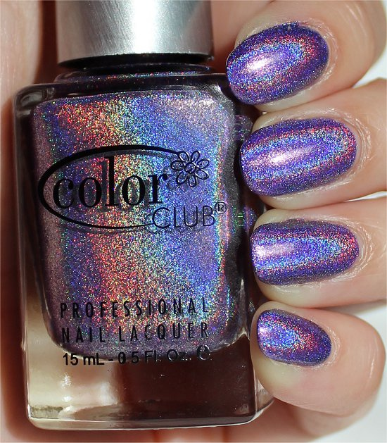Color Club Eternal Beauty Purple Holo Swatches & Review