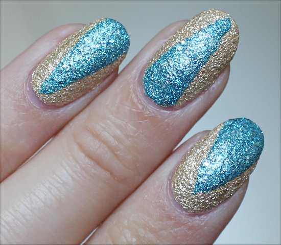 Liquid Sand OPI Bond Girls Nail Art