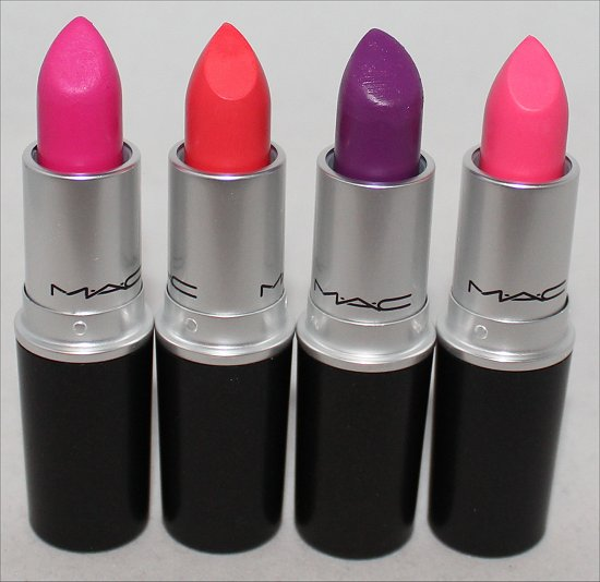 MAC Embrace Me, Ablaze, Heroine & Silly Lipstick Fashion Sets Haul