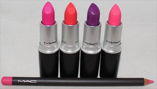 MAC Fashion Sets Haul, Photos & Pictures Heroine, Ablaze, Silly & Embrace Me Lipstick