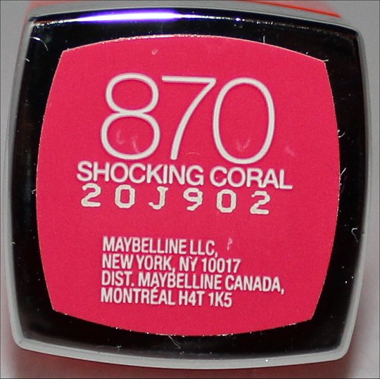 Maybelline Vivids Shocking Coral Swatch, Review & Pictures