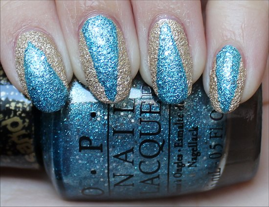 OPI Bond Girls Nail Art Tiffany Case Honey Ryder