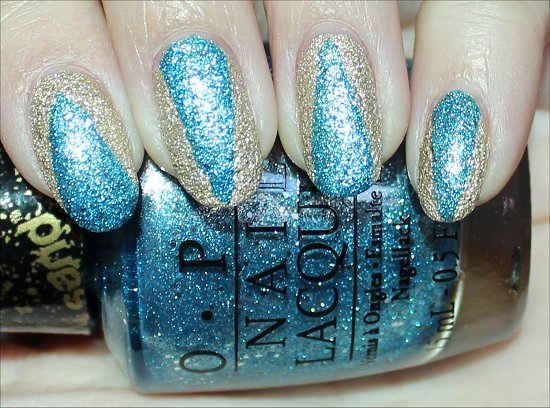 OPI Honey Ryder OPI Tiffany Case Liquid Sand Nail Art