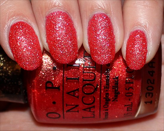 OPI Jinx Bond Girls Liquid Sand Swatches & Review