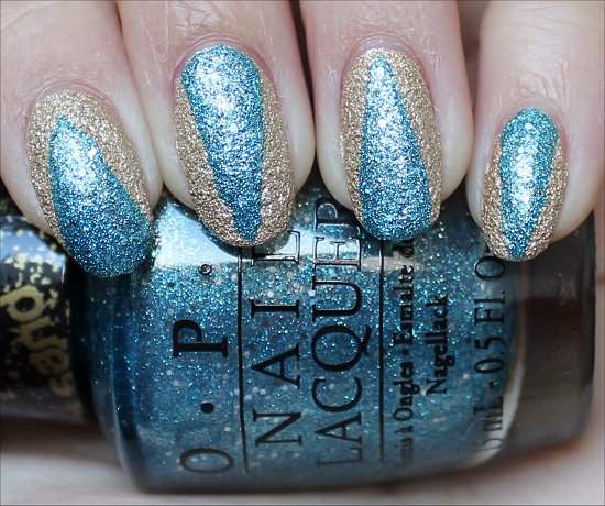OPI Liquid Sand Nail Art Scotch Tape Manicure