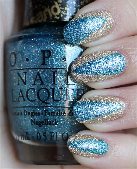 OPI Liquid Sand Nail Art Tiffany Case & Honey Ryder