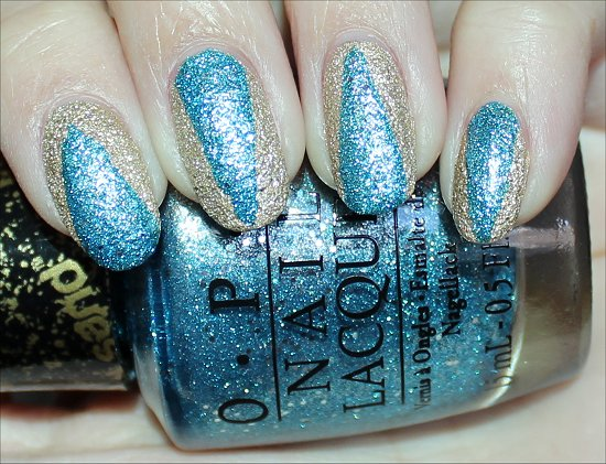 OPI Tiffany Case & Honey Ryder LiquidSand Nail Art Swatches