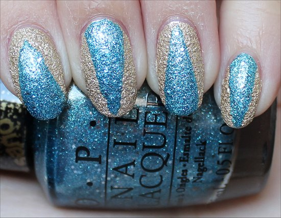 OPI Tiffany Case & OPI Honey Ryder Bond Girls Nail Art