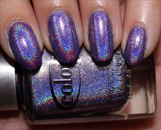 Purple Holographic Nail Polish Swatches