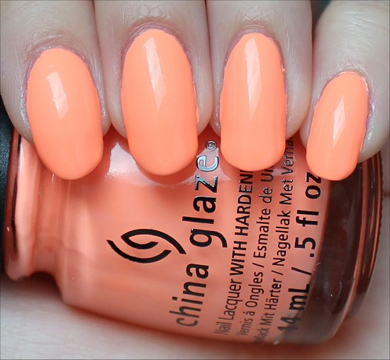 china glaze sun of a peach swatches  u0026 review