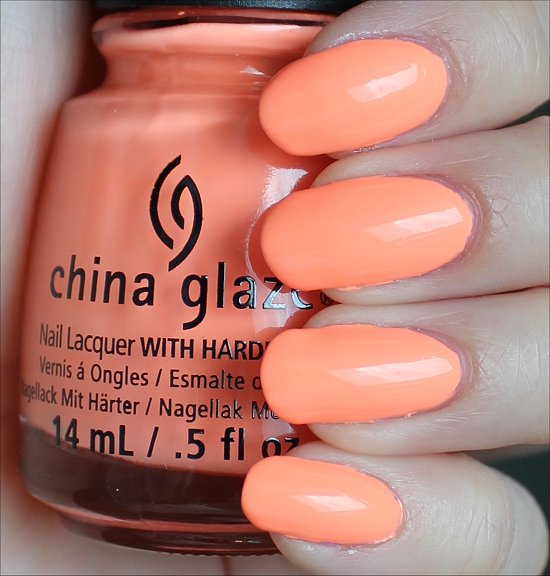 China Glaze Sun of a Peach Swatches & Review