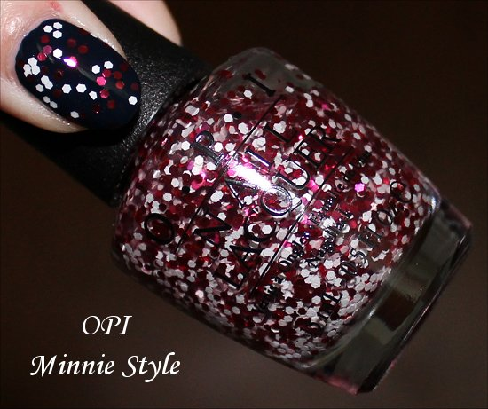 Minnie Style OPI Swatches Couture de Minnie Swatch