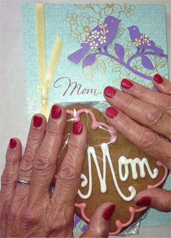Mom Wearing OPI Magazine Cover Mouse 2