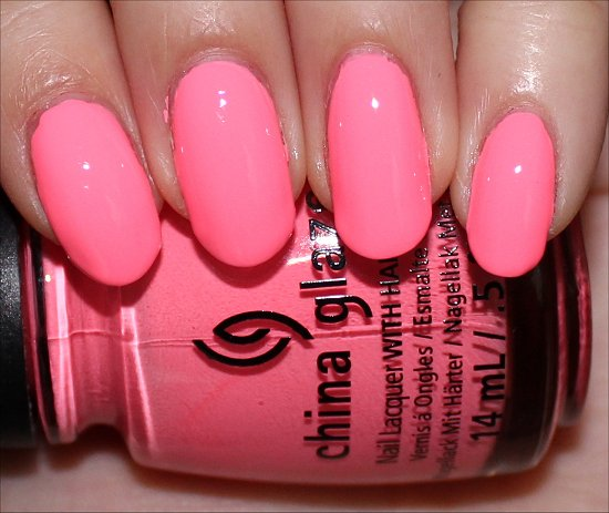 Neon & On & On China Glaze Sunsational Collection Swatches