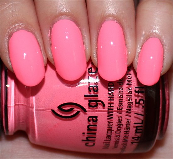 Neon & On & On by China Glaze Sunsational Swatches Swatch