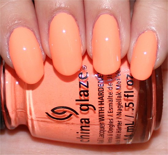 Sun of a Peach China Glaze Sunsational Swatches