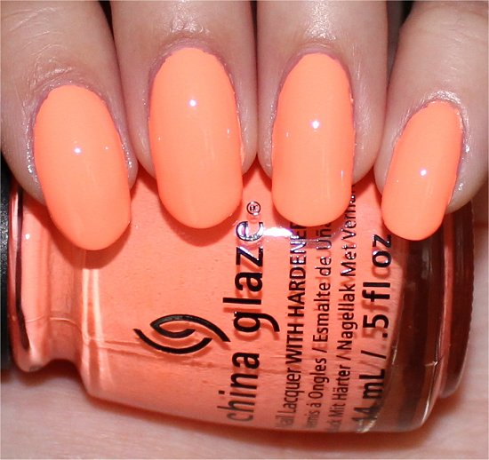 Sun of a Peach Swatch China Glaze Sunsational Swatches & Review