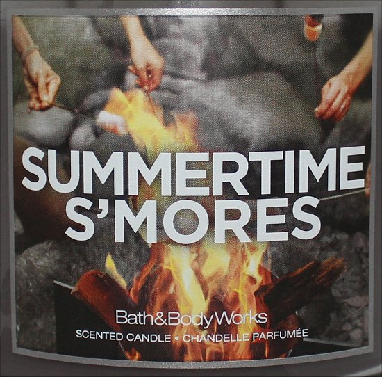 Bath & Body Works Summertime Smores Candle Review & Pictures