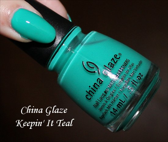 China Glaze Keepin' It Teal Sunsational Swatch