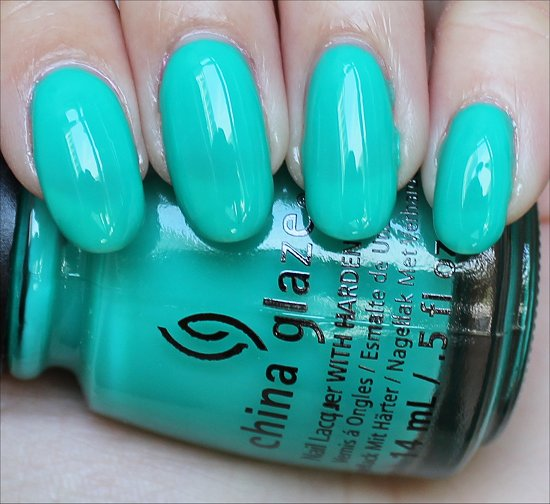 China Glaze Keepin' It Teal Swatch & Review