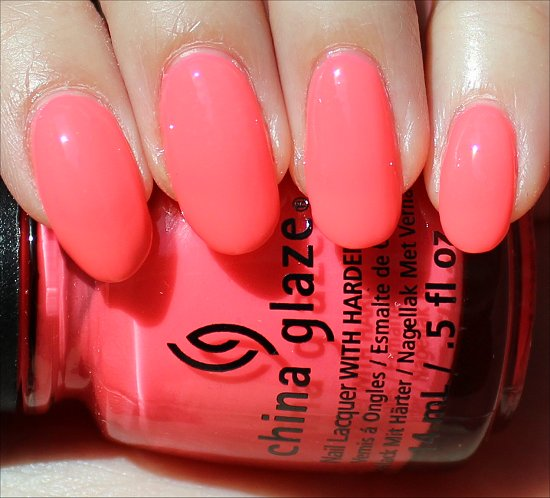China Glaze Shell-o Swatch, Review & Photos