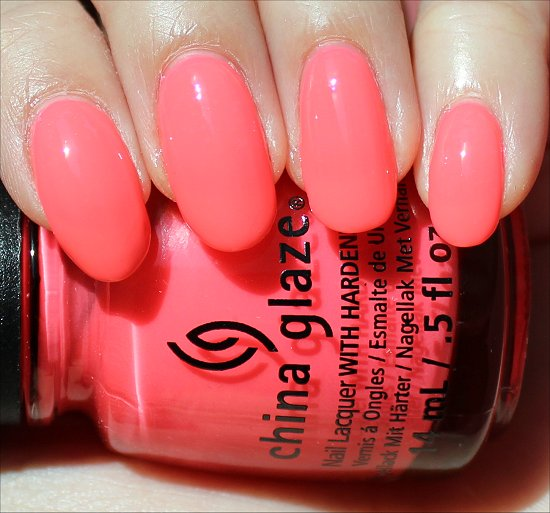 China Glaze Shell-o Swatch & Review