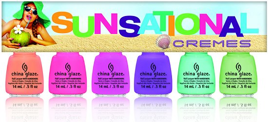 China Glaze Sunsational Collection Cremes