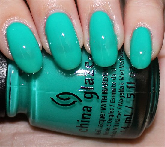 China Glaze Sunsational Collection Swatches Keepin' It Teal Swatch