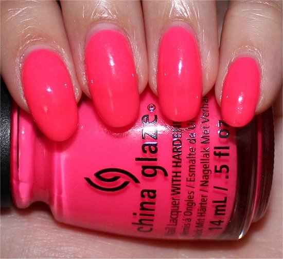 Heat Index China Glaze Sunsational Swatches & Photos