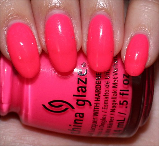 Heat Index China Glaze Sunsational Swatches