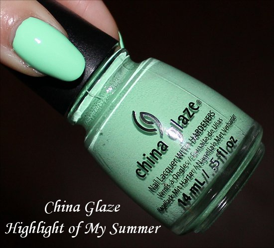 Highlight of My Summer China Glaze Sunsational Collection