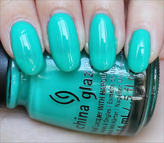 Keeping It Teal China Glaze Swatch Swatches Sunsational