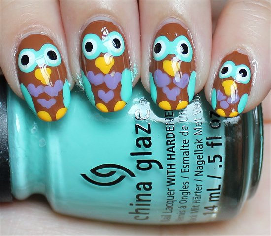Nail Art Owl Nails Swatches
