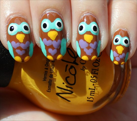 Nail Art Tutorial Owl Nails Owls