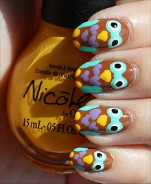Nail Art Tutorial Owl Nails