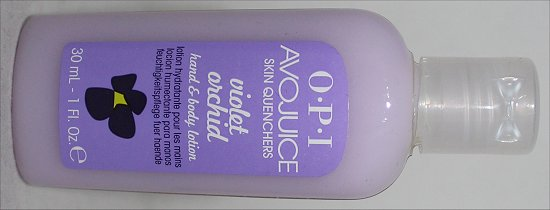 OPI Avojuice Violet Orchid Hand & Body Lotion Review & Photos