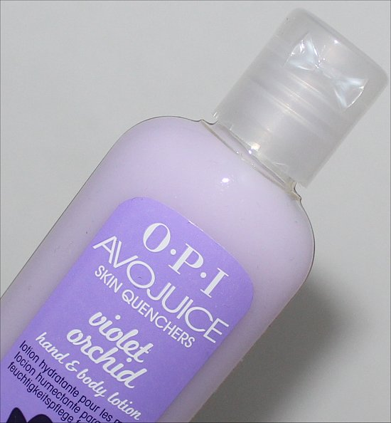 OPI Avojuice Violet Orchid Hand & Body Lotion Review & Pictures