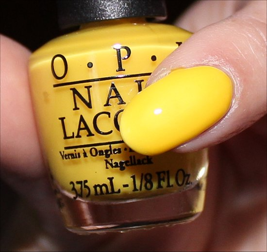 OPI Don't Say It Yellow It Swatch & Review Neon Revolution