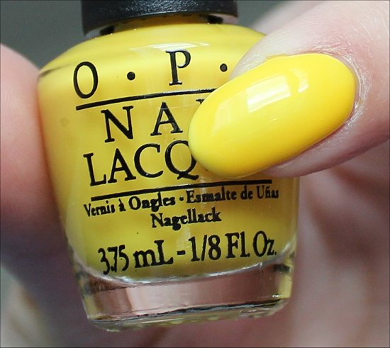 OPI Don't Say It Yellow It Swatch & Review