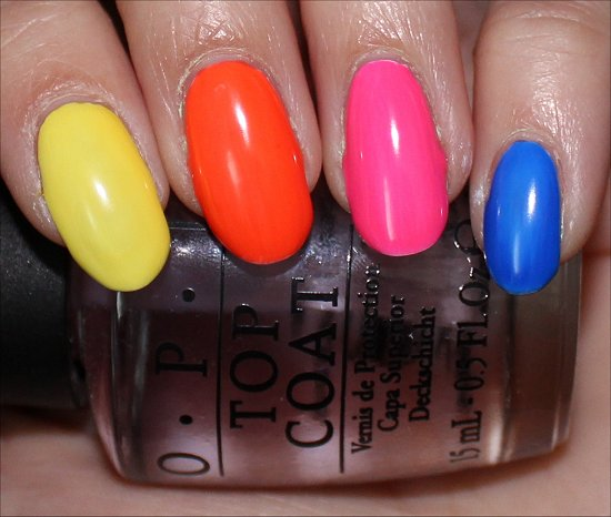 OPI Neon Revolution Swatches, Review & Photos 1 coat Flash
