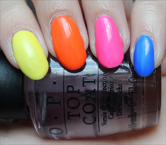 OPI Neon Revolution Swatches, Review & Photos 1 coat
